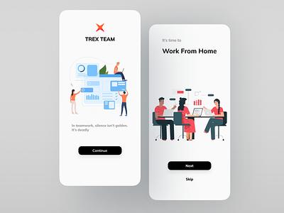Trex Project project managment task management minimalist minimal popular shot dribbble best shot project management mobile app uiuxdesign trending trendy