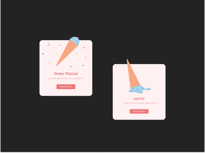 Flash message UI - DailyUI illustration branding graphicdesign ui website webdesign minimal design uiux dailyui app icecream