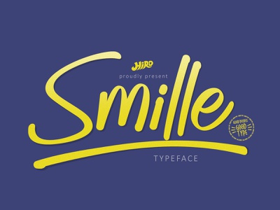Smille - Solid Brush Font handwritten handwritting typography swash smooth logotype font cursive craft clean catchy brand beauty funny script brush