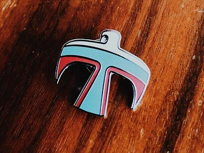 Thunderbird Enamel Pin photoshop silver accessory icon native american pin
