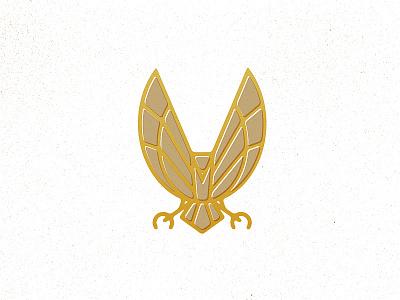 Bird of Prey falcon hawk eagle bird old timey vintage icon pictograph brand logo