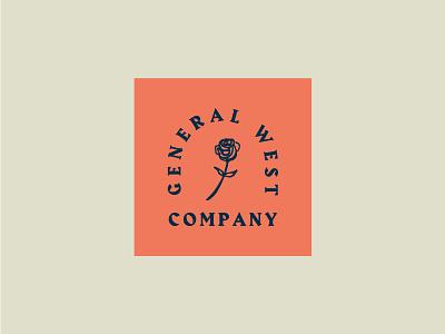 General West Co vintage general company rose west identity brand logo