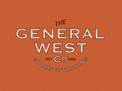 The General West Co. americana old identity company general west type vintage lockup brand logo