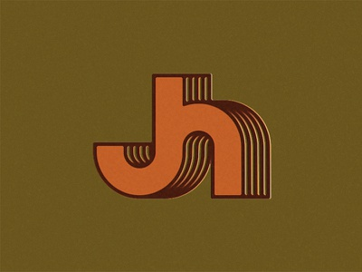 JH monogram h j identity brand vintage draplin 70s retro logo