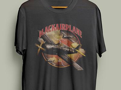 Blackairplane Shirt 80s vintage shirt apparel branding ww2 plane airplane t-shirt t-shirt design
