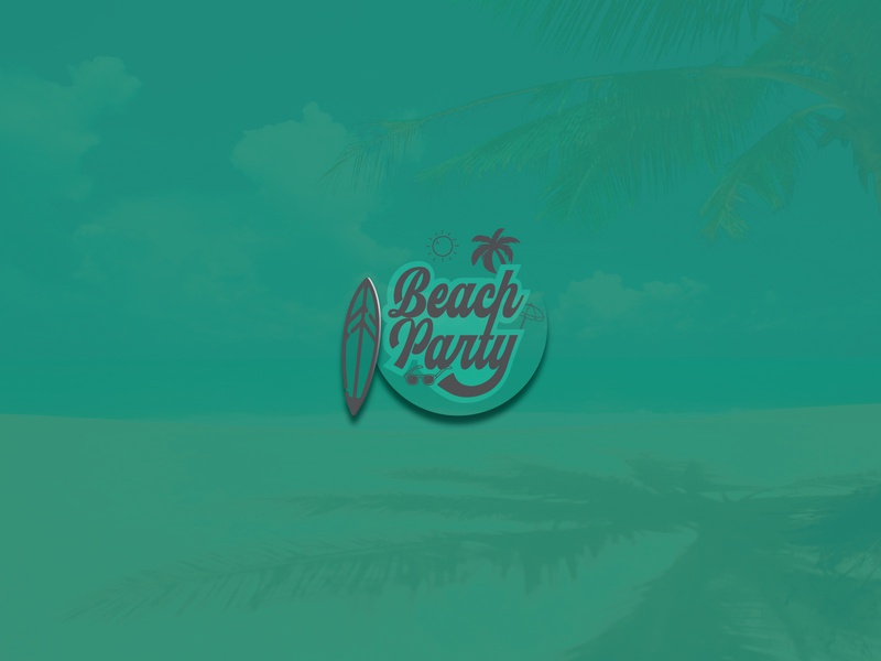 TYPOGRAPHY | BEACH PARTY vector identity font simple lettering branding and identity beach party logo logotype illustrator illustration graphic design typography branding design dailyui concept clean brand art
