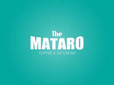 MATARO creative modern logo modern concept minimalist logo clean icecream ice cream coffeeshop coffe lettering simple logotype minimalist copyright design branding and identity illustrator branding logo