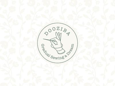 Dooziba تصویرسازی وکتور برندینگ برند نشانه لوگو دست home pin sewing handmade hand logo design illustration vector logo logodesign design illustrator branding