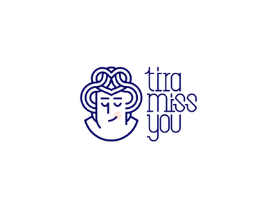 Tira Miss You cooky pastry love pleasure delicious logoinspiration cookies tiramisu miss you miss you typography vector illustration illustrator logo design branding logodesign logo design