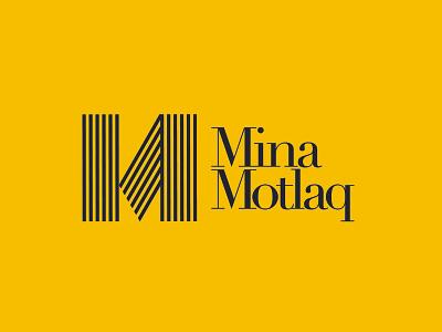 Mina Motlaq Architect Logo Design   2021 m letter logo yellow logo yellow architecture architect monogram logo m logo m letter line logo monogram logo design logoinspiration logomaker logolove logolearn illustrator logo design logodesign branding