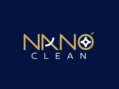 Nano Clean Logo Design   2020 type navy blue brand design brand identity clean goldlogo logos nanoclean nano logotype logoinspiration logolounge logolearn logolove logomaker logo design illustrator logo logodesign branding