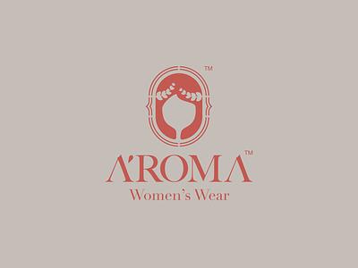 A'ROMA Women's Wear Logo Design   2021 corporate identity brand identity logo love logo maker aroma roman logo lounge style moda fashion vector logo design design illustration illustrator logoinspiration logodesign branding logo