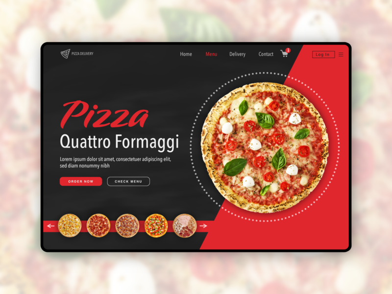 Pizza Delivery landing Page website web design visiva user inteface ux user experience ui  ux ui interface html graphic design developer daily ui css coders coder landing page delivery pizza