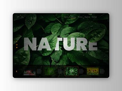 Explore the nature concept design for website
