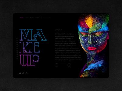 Makeup Website Design web designer graphic designer graphic  design userexperiance userinterface colorful colors makeup webdesig html developer css coder website ux ui  ux graphic design ui visiva