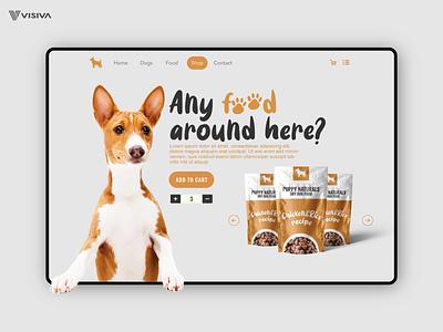 Webshop design puppy dog food dogs dog userexperience userinterfacedesign userinterface webdesigner e-store e-shop html developer css coder website ux ui  ux graphic design ui visiva