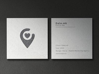 Branding - Date.mk date dating dating app logotype symbol logo mark brand identity logo design logos visiva branding logo graphic design