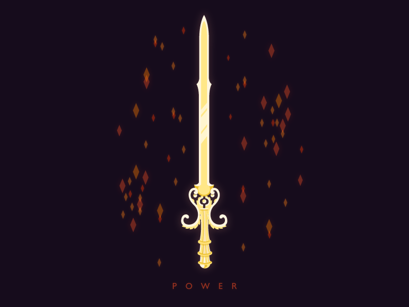 Power zelda sword mark logo ganon shadows flat illustration