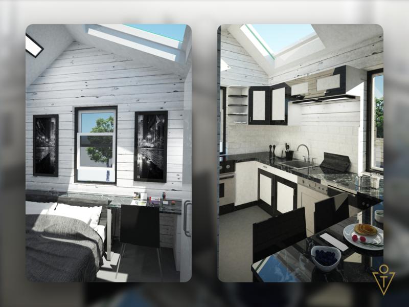 Mobile home (3D) interior 3dsmax 3d modeling render house architecture 3d design art