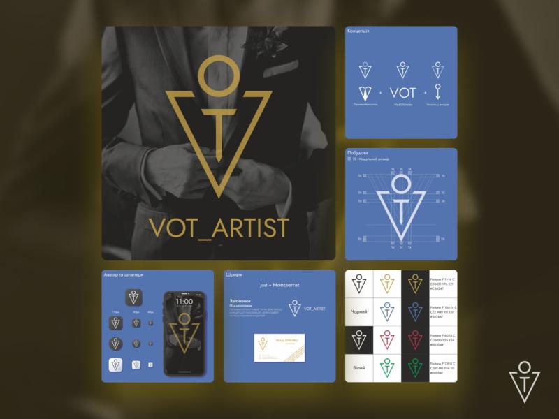 VOT_Artist Logo & Corporate identity corporate identity typography branding logo vector design art