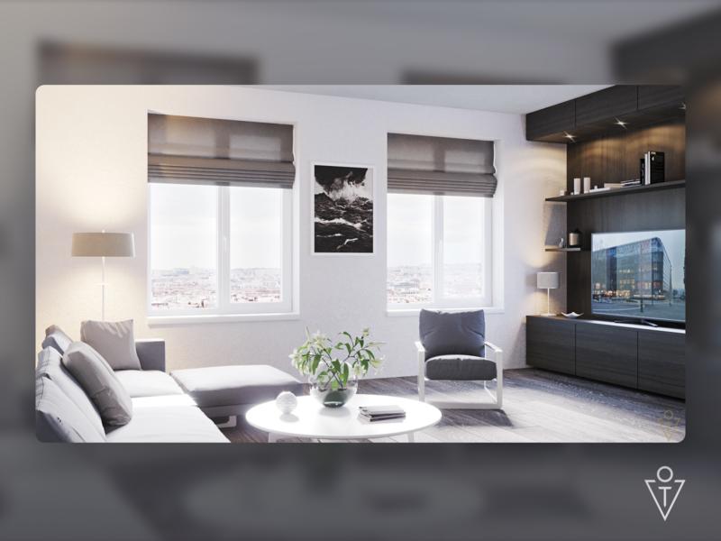 Interior Living room (3D) interior 3dsmax 3d modeling render house architecture 3d design art