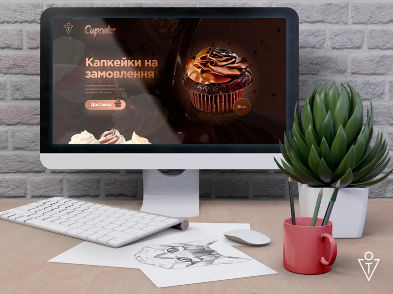 Landing page Cupcake web design website ui  ux landing page landing ux branding ui design art