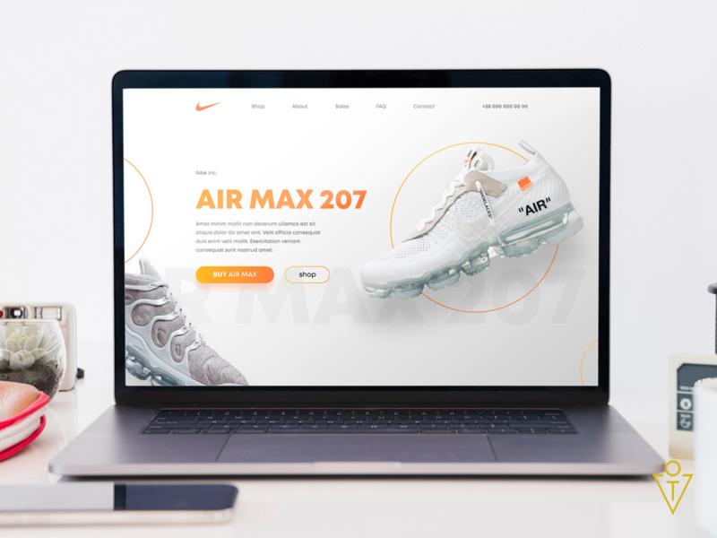 Landing page Nike landing page landing web design website web ui  ux ux branding ui logo design art