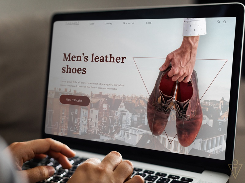 Landing page Men`s Leather Shoes shop shoe landing page landing web design website web ux branding ui design art