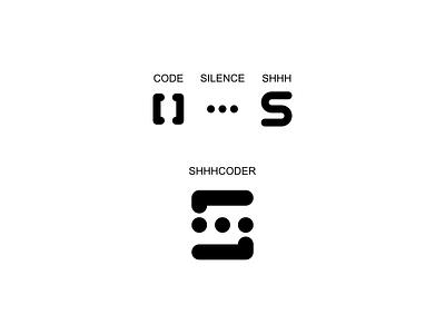 Logo: shhhcoder vector logo simple design ento