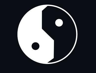 Yin Yang yinyang logo design logo