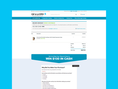 Ecommerce Checkout Confirmation design psd wordpress ecommrece woocommerce shopping cart web design