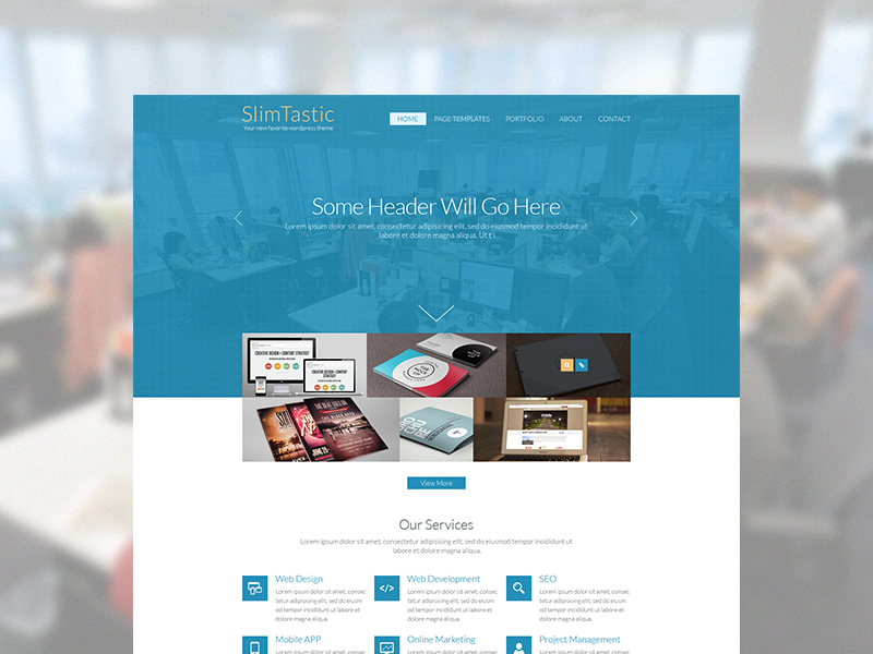 Dribbble home page