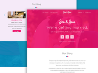Wedding Page Template