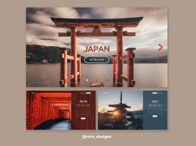 Travel  Site ux page design web design webdesign website ui design art