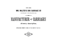 Walter's Son Carriage Co.