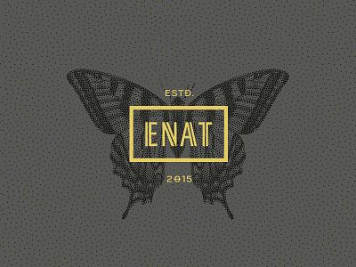 ENAT fashion retail leather branding logo