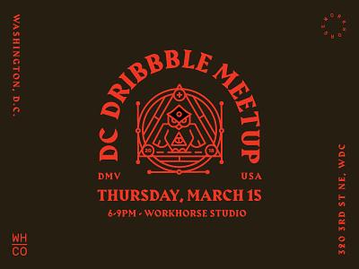 DC Dribbble Meetup harbour blackletter owl dc dribbble meetup workhorse