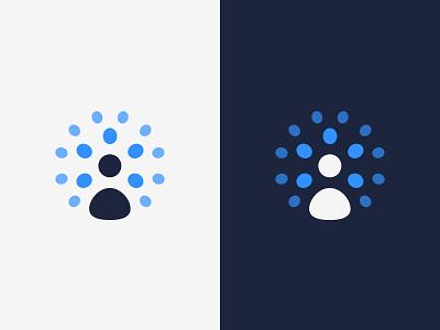Assistant blue symbol minimalistic logotype logomark logo brand identity human man user branding brand