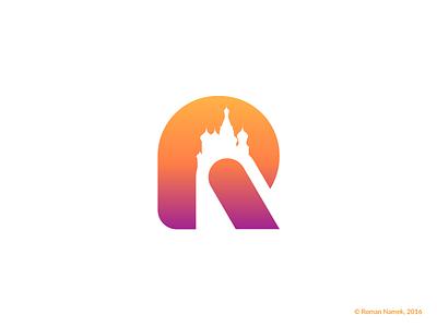 Letter R City russia city moscow symbol logo mark identity minimalism monogram logotype logo brand