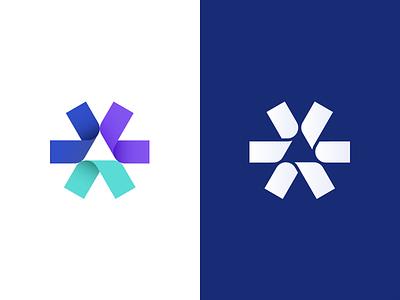 Asterisk gradient design identity icon minimalistic logo mark symbol minimalism logotype monogram logomark branding logo