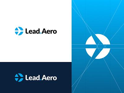 Lead.Aero aero plane minimalism identity flat logotype monogram minimalistic logomark branding brand logo