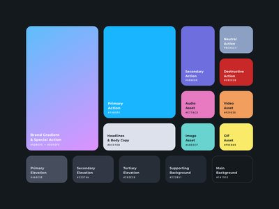 Color System visual language components swatch color guide visual identity interface design color palette design system style guide product design branding color webdesign product web app design ux interface ui