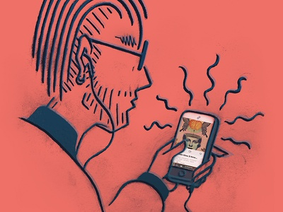 Playlist Kids 02 millennial headphones iphone phone streaming playlist music 8tracks sketch illustration drawing