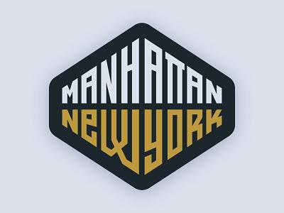 Manhattan design graphic wordmark lettering new york nyc manhattan typography sticker type