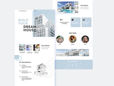 Architecture Website UI Design minimal web website ux ui design app