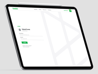 Provision Login UI design system login ui