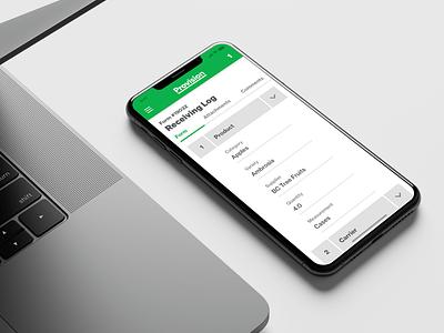 Provision Mobile Form UI design system form mobile ui