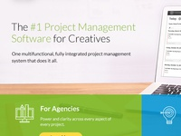 Homepage design mockup