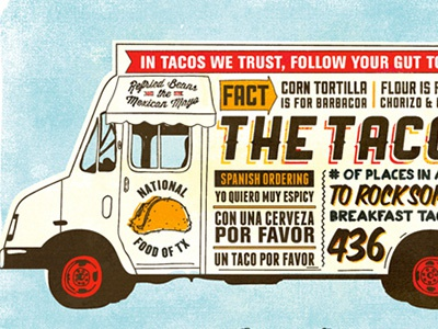 Taco Infographic taco infographic mexican spanish food textured illustration truck