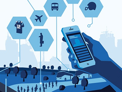 Football Connectivity  football app illustration city connect hexagon